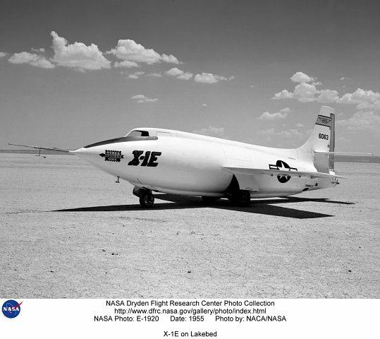 X-1 supersonic aircraft on Lakebed