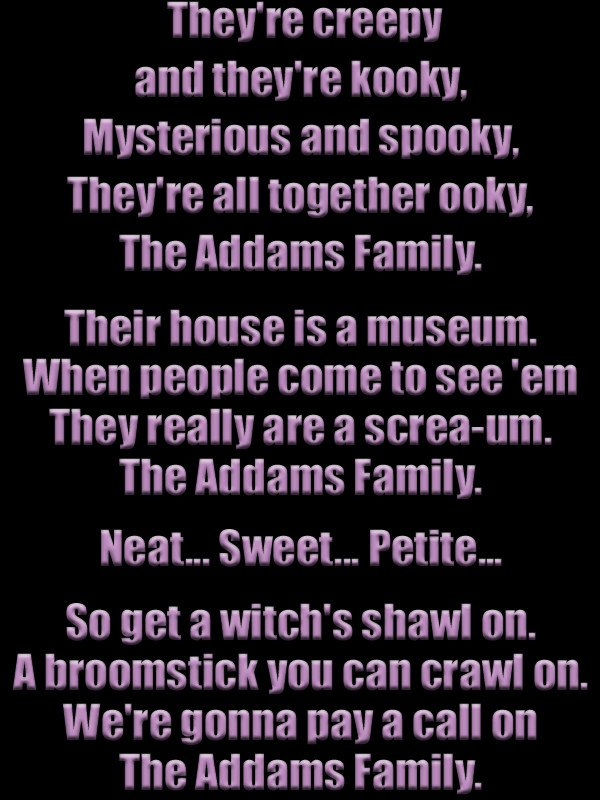 Addams family song for Halloween