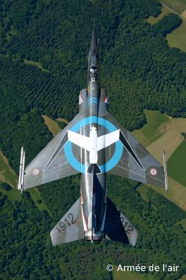 "Mirage F1CR - ER 02/033 Savoie, Escadrille SAL 6 ""Mouette du Rhin"" en extrados de dessus - 100eme anniversaire"