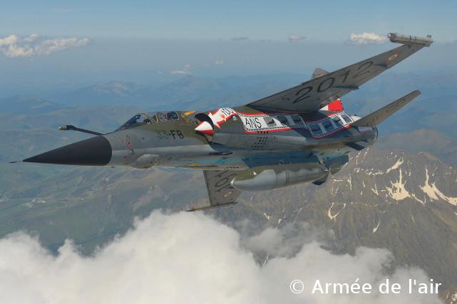 """Mirage F1CR above clouds - ER 02/033 """"Savoie"""", SAL 6 """"Mouette du Rhin"""" - """"100 ans de Reco"""" !"""