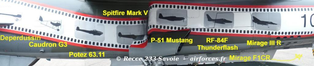 Mirage F1CR starboard and previous ER 2/33 SAL 6 aircraft