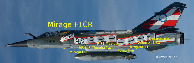 Mirage F1CR and previous ER 2/33 SAL 6 aircraft