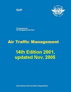 ICAO DOC 4444 ATM - Air Traffic Management, 14th edition