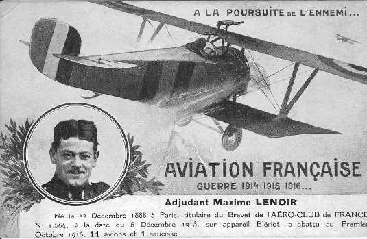 Maxime LENOIR - 11-victory ace in 1916