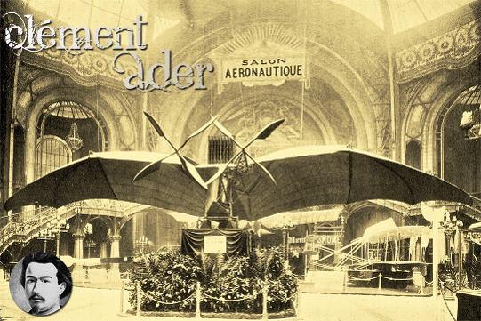 Clément Ader's Avion 3 at Salon Aéronautique 1909