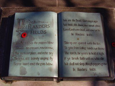 WW1 remembrance flanders book
