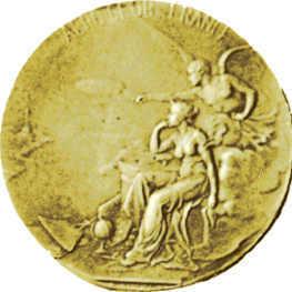 Médaille d'or de l'Aéroclub de France 1917 - Gold Medal