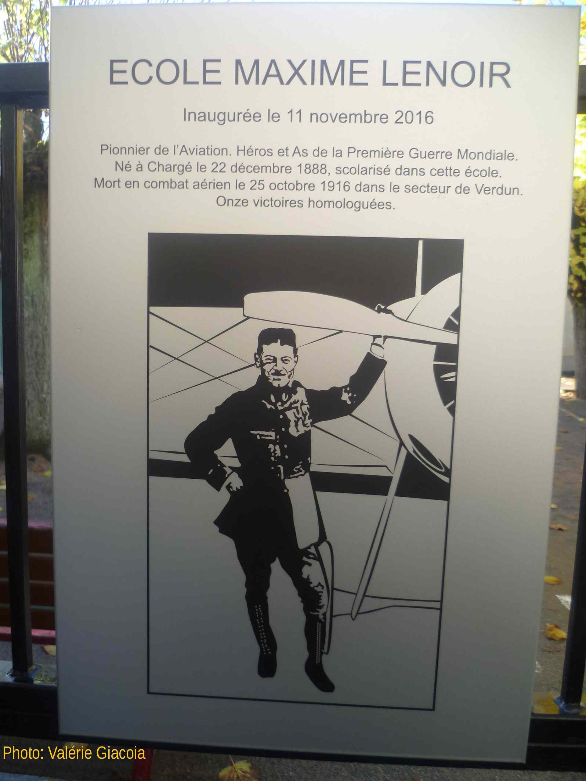 Commémoration Maxime Lenoir 11 novembre 2016 école