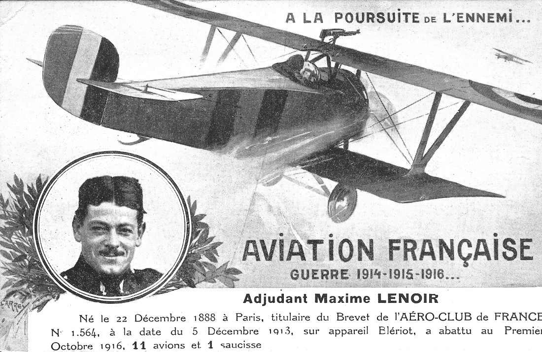 Maxime Lenoir sur avion MAX Nieuport