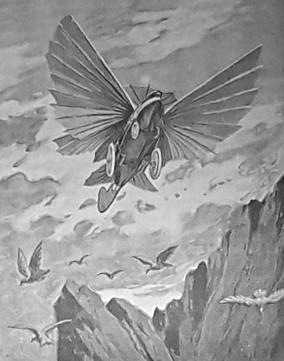 Jules Verne Maître du monde Robur le conquérant machine volante illustration livre Aéro-Club de France Pierre Baland