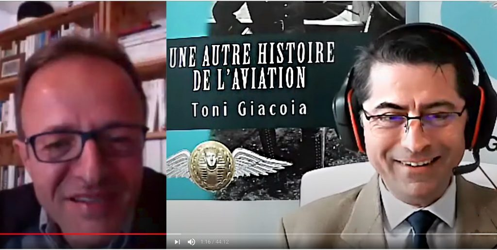 François Blanc AJPAE interview Toni Giacoia the first aviation pioneers book une autre histoire de l'aviation videoconference la fête de l'aviation Maxime Lenoir Gustave Whitehead Gustav Weisskopf